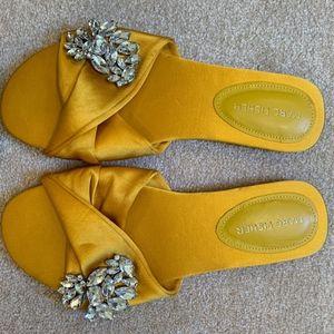 Marc Fisher Gallary Embellished Slip-On Sandal